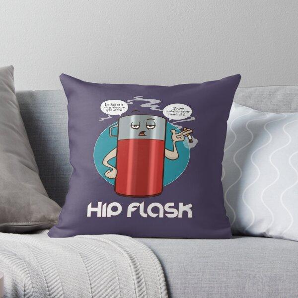 Hip Flask Throw Pillow