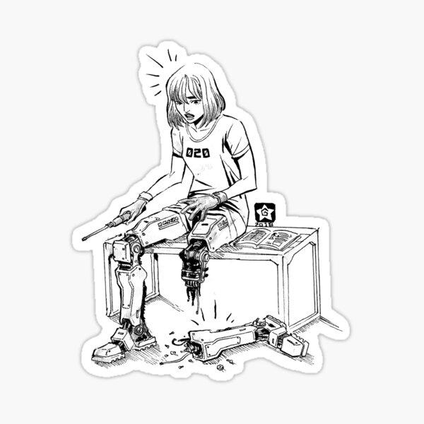 Mechanic Girl Sticker