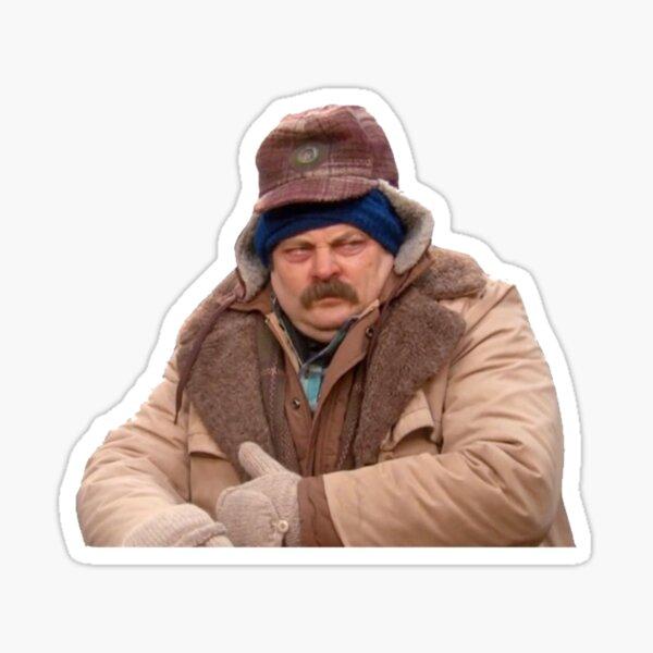Cold Ron Swanson Sticker