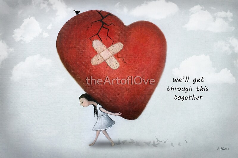 Quot We Ll Get Through This Together Quot By Amanda Cass Redbubble