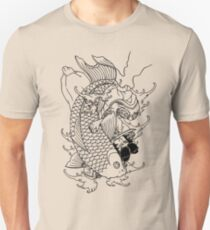Japanese Warrior and Koi Unisex T-Shirt
