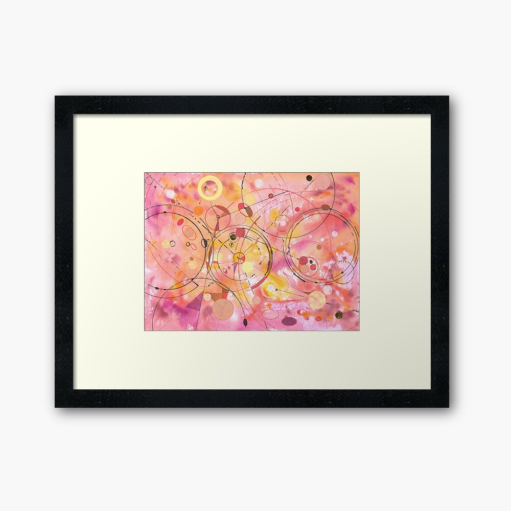 A rounded View Framed Art Print