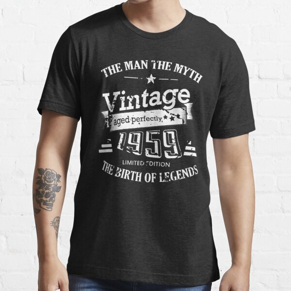 Vintage 1959 - 60th Birthday Gift For Men Essential T-Shirt