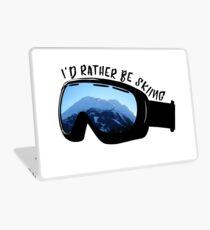 Ich würde eher Ski fahren - Brille Laptop Folie