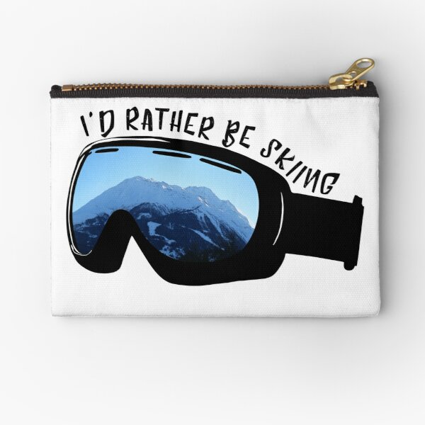 I'd Rather Be Skiing - Goggles Zipper Pouch