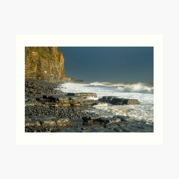 Llantwit Major Beach - After the Storm Art Print