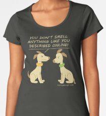 Online Dating Dog Humor Brown Women's Premium T-Shirt