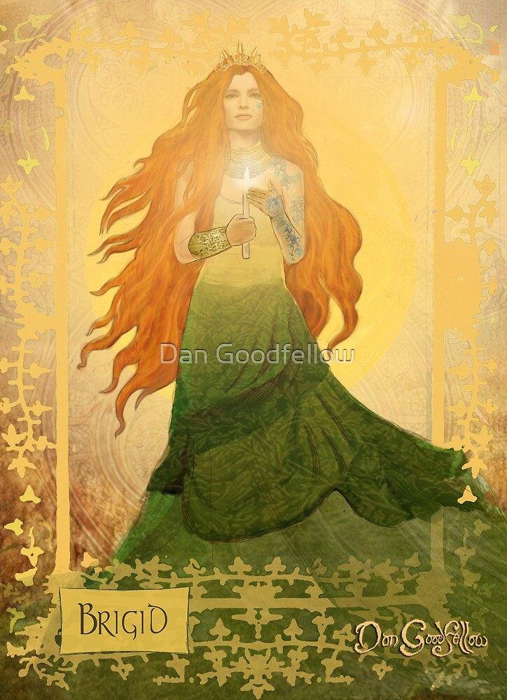 Celtic Goddess; Brigid by Dan Goodfellow