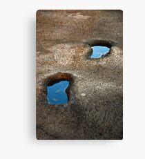 Footprints pools Canvas Print