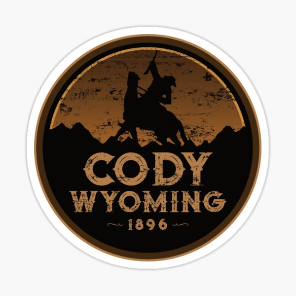 Cody Wyoming Buffalo Bill Wild West Sticker