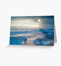 Icebergs Jokulsarlon Beach Iceland Greeting Card