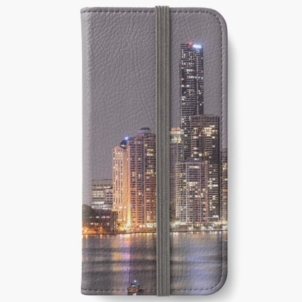Southbank Brisbane City Lights Grey iPhone Wallet
