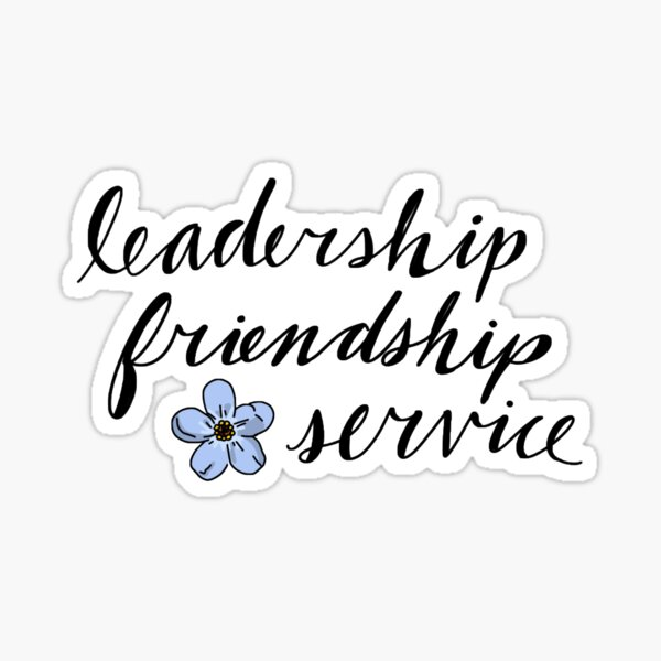 Leadership, friendship, service logo Sticker