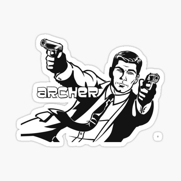 Archer Guns Sticker