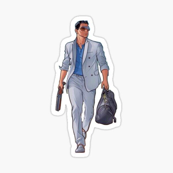 Bogenschütze mit Tasche Sticker