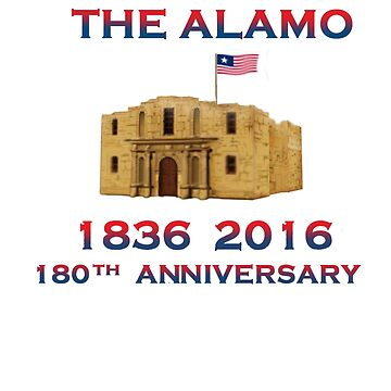 Battle of Alamo 1836 flying Texican Navy Flag 19thC. by Radwulf