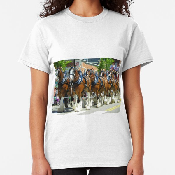 Clydesdale Horses - Eight Horse Hitch Classic T-Shirt