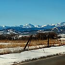 Where the Plains meet the Mountains by Barb Miller