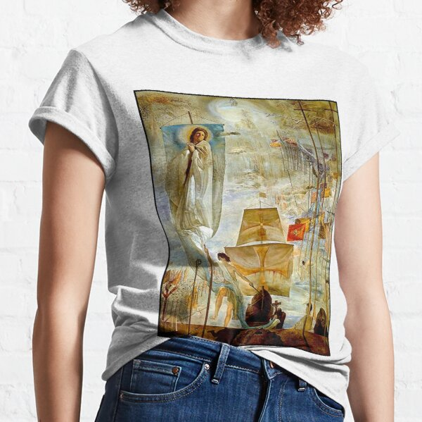 CHRISTOPHER COLUMBUS : Vintage 1958 Discovery of America by Dali Classic T-Shirt