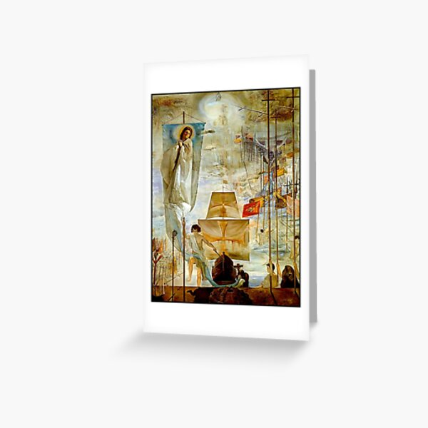 CHRISTOPHER COLUMBUS : Vintage 1958 Discovery of America by Dali Greeting Card