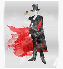 Tuxedo Mask, Sailormoon Giclee Art Print Poster