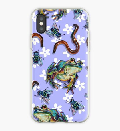 Frogs and Flowers and Flies and WORMS, Oh My!! iPhone Case