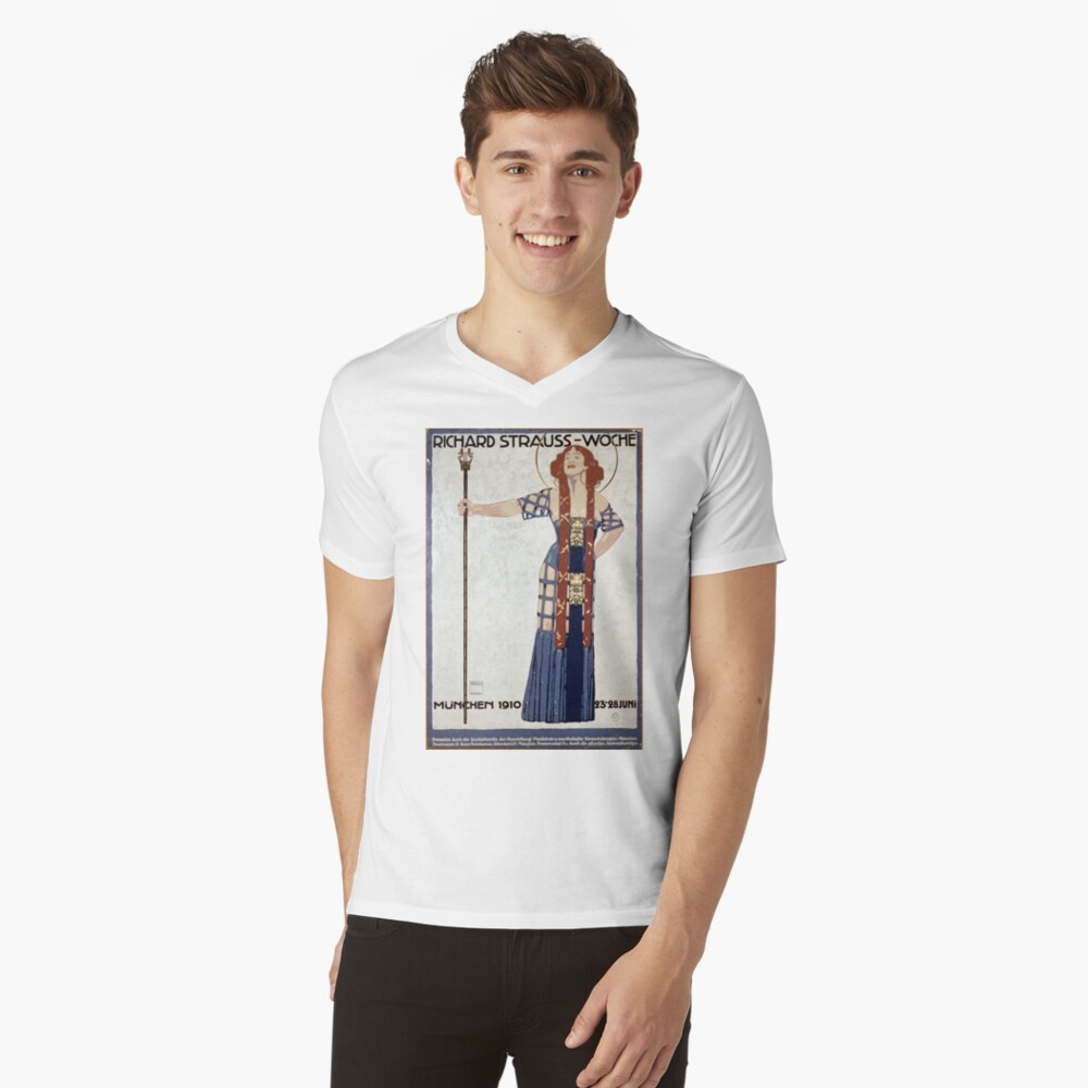 Richard Strauss Week, 1910...Salome  V-Neck T-Shirt
