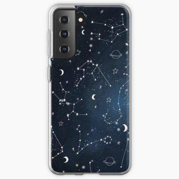 Galaxy Constellations Planets Universe Blue Pattern Samsung Galaxy Soft Case
