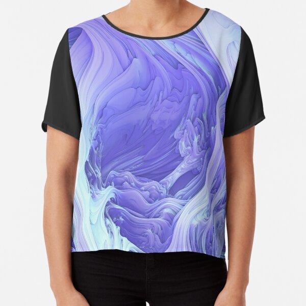 Glacial Mass. 3D Abstract Art Chiffon Top