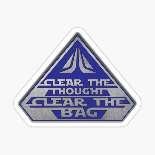 Despeja el pensamiento, despeja la bolsa Pegatina