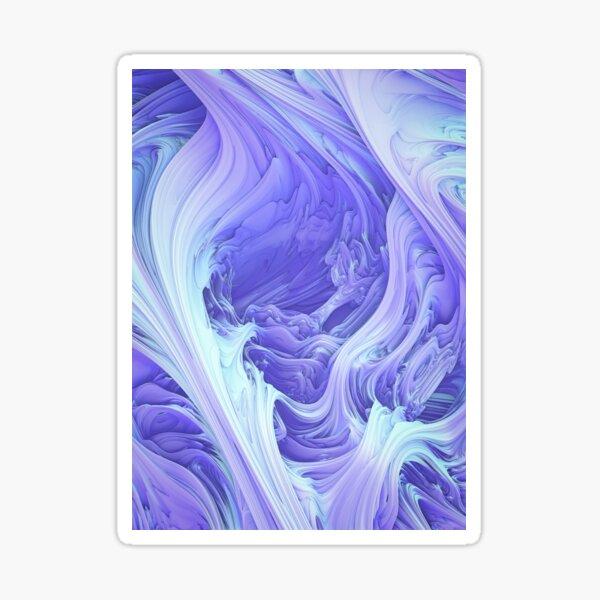 Glacial Mass. 3D Abstract Art Sticker