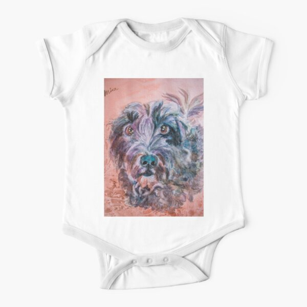 """MISA'S ORIGINAL ART """"AWESOME PETS"""" Short Sleeve Baby One-Piece"""