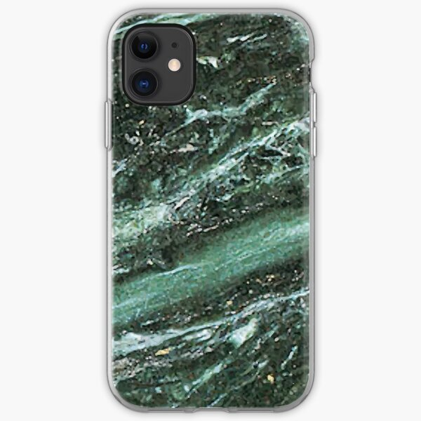 Green Marble Emerald Stone Texture Pattern iPhone Soft Case