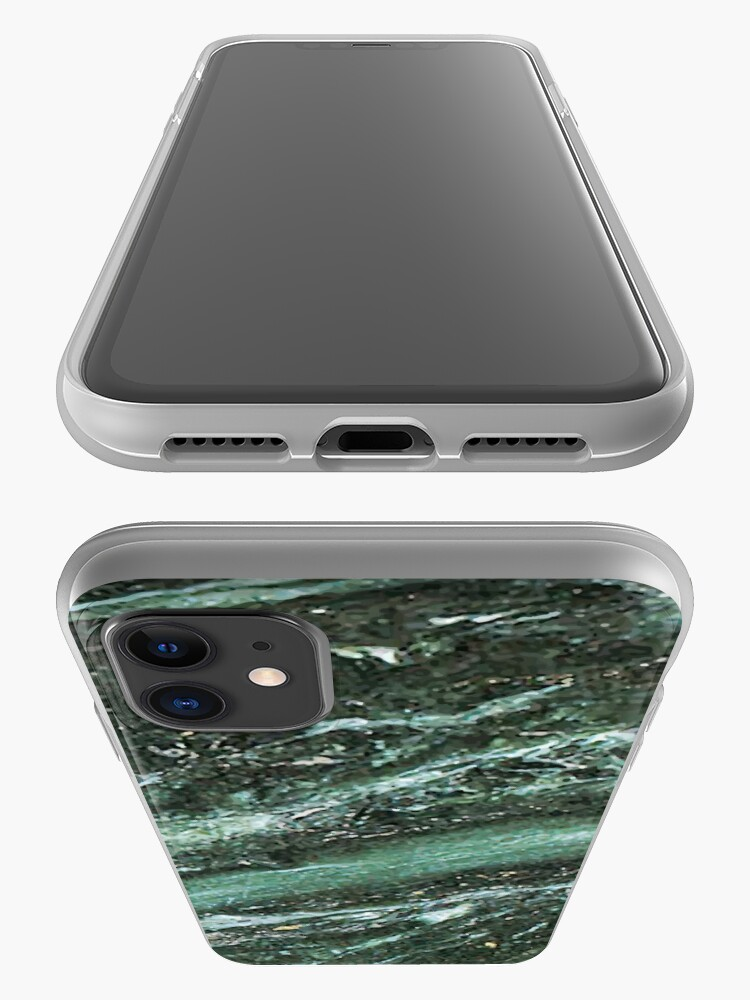 Alternate view of Green Marble Emerald Stone Texture Pattern iPhone Case & Cover