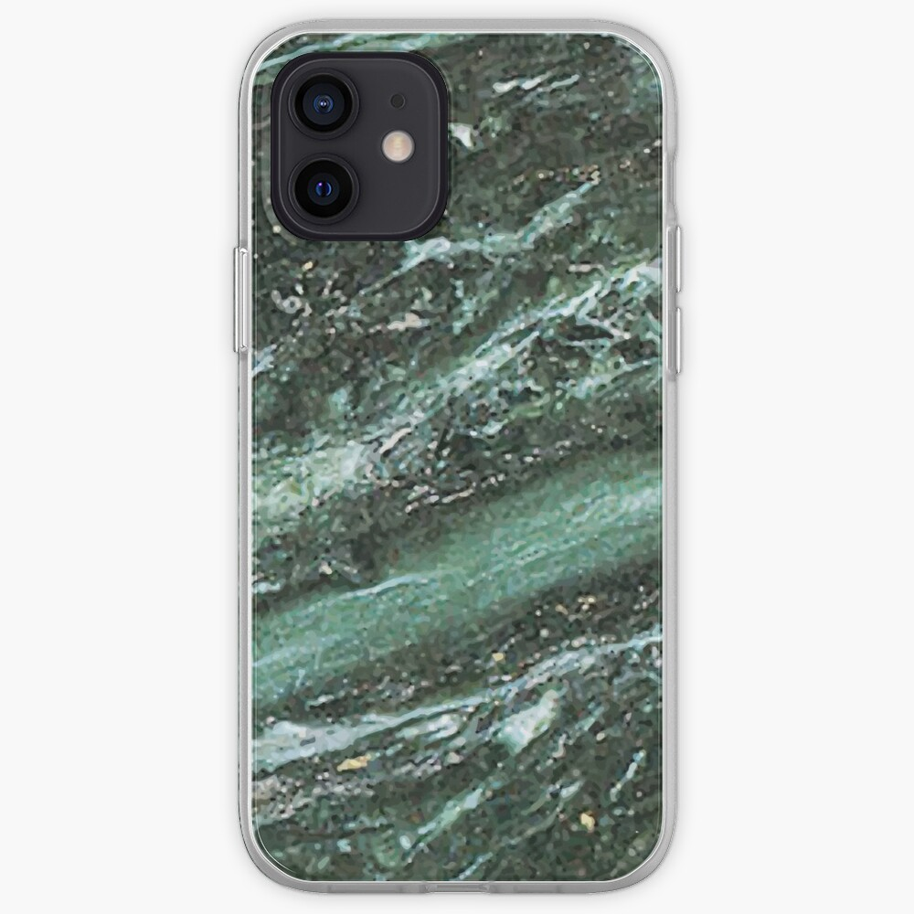 Green Marble Emerald Stone Texture Pattern iPhone Case & Cover