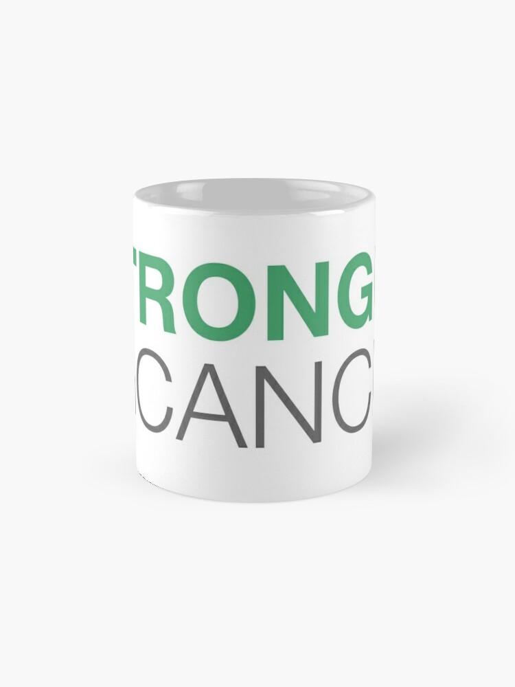 Alternate view of Stronger Than Cancer website logo Mug