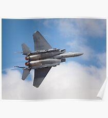 F-15E full burner Poster