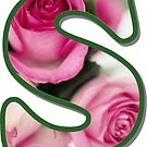 Letter S Rose Monogram by gretzky