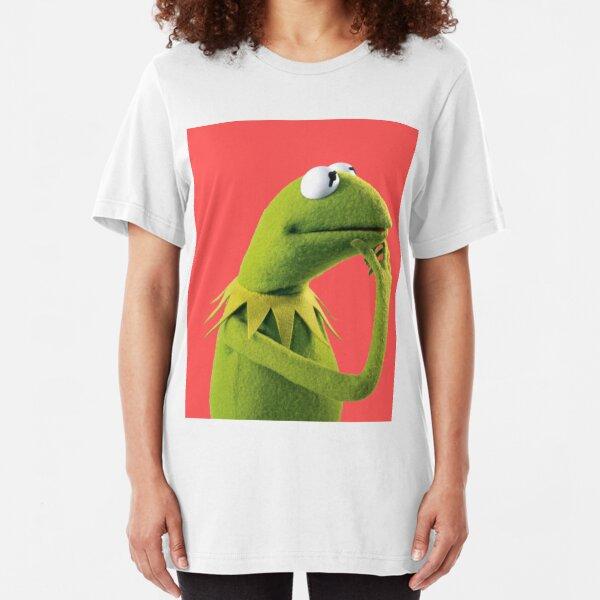 Pondering Kermit Slim Fit T-Shirt