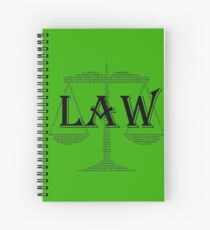 Law Text Spiral Notebook