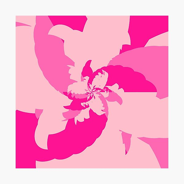 Light Tropical Pink Photographic Print