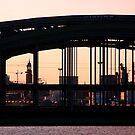 Hamburg trough a bridge by Dirk Pagel