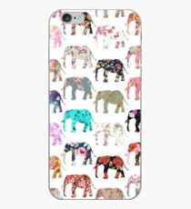 Girly wunderliches Retro Blumenelefant-Muster iPhone-Hülle & Cover
