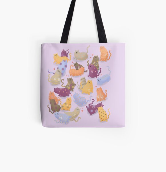 My heart is purring for you! All Over Print Tote Bag