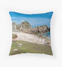 St Agnes Coastline  Throw Pillow