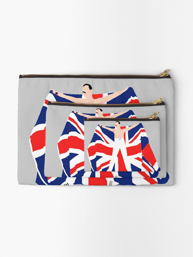 Alternate view of Patriotic Fred Zipper Pouch