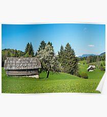 Alpine Huts Slovenia Poster