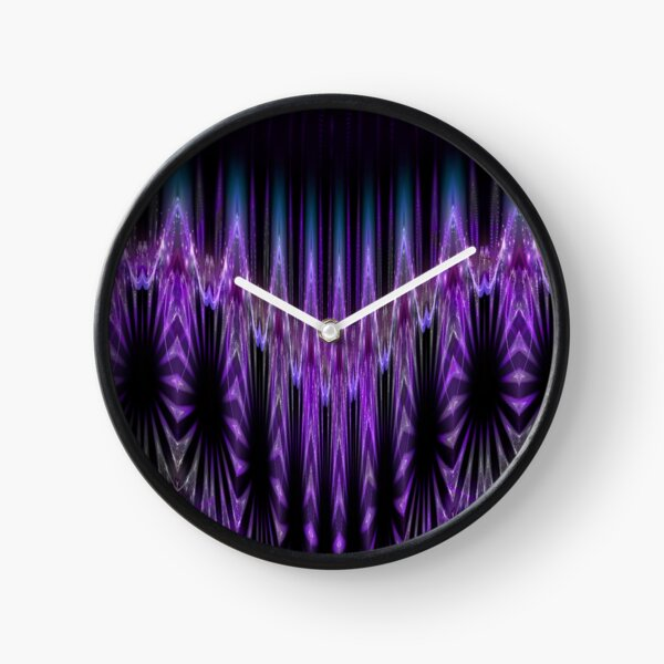Purple & Teal Willow Clock