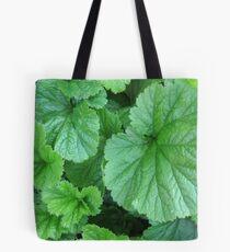 Green Geum Leaves Tote Bag