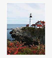 A Different View of Portland Headlight Photographic Print
